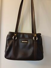 CAPEZIO brown Double Strap Hand Bag faux leather, with large and small pockets