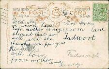 Mrs Cross. Epsom Lane, Tadworth. 1914 - Mother  RJ.835