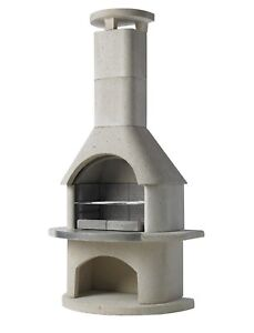 Buschbeck Outdoor Fireplace BBQ Pizza Oven Wood burning Patio Heater Elba