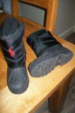 Polo Ralph Lauren-boys black waterproof boots.UK 11,5(EU 29)Used