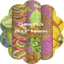 """5"""" Quilters Charm Squares  x 20 - Kaffe Fassett Collective 2016 - Yellow #1"""