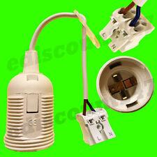 Certificado CE es E27 Tornillo + terminal (blanco) LED lámpara de techo titular vendedor Reino Unido.