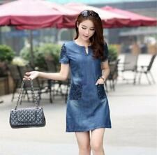 New Summer Denim Dress Hot Sale Women Loose Fashion Jean Dress B