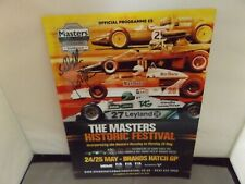 2014 BRANDS HATCH PROGRAMME - MASTERS FESTIVAL - SIGNED BY SAM & DAVID BRABHAM
