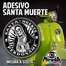 ADESIVO STICKER SANTA MUERTE MEXICO SKULL TESCHIO MESSICANO MOTO SCOOTER VESPA