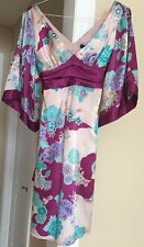 Arden B Dress Floral Kimono Style Open Sleeves NWT $138 Size Small Dress