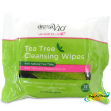 Tea Tree Cleansing  Remove Skin Dirt Excess Oil Make Up Spots 25 Face Wipes