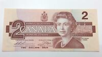 1986 Canada Uncirculated 2 Two Dollar BBB Prefix Canadian Banknote C879