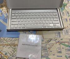 New Open Box. Never Used Apple MC184E/B Wireless Silver Keyboard