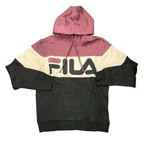 Men's Fila Burgundy Flamino Fleece Hoodie