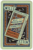 Playing Cards Single Card Old WILD WOODBINE Cigarettes Advertising Art Packet 9