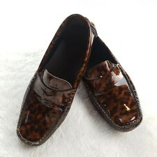 Cole Haan Trillby Tortoise Patent Leather Driver Shoe Loafer Womens 7 D25283