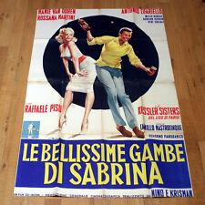LE BELLISSIME GAMBE DI SABRINA manifesto poster Mamie Van Doren Kessler Sisters