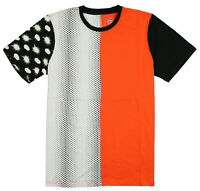 ASICS Tiger Happy Chaos Split T-Shirt sz XL X-Large Orange Tokyo Japan Kayano