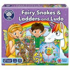 Orchard Toys 059 Fairy Snakes and Ladders with Ludo