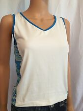 LBH Women's Blue & White V-necked Athletic Tank Top Size S