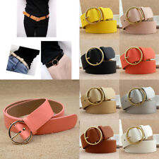 Women Lady Vintage Metal Boho Leather Round Buckle Waist Belt Waistband New Gift