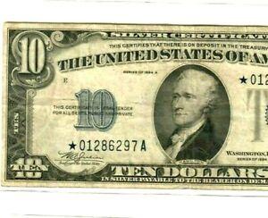 "$10 STAR  (1934-A) ""STAR""STAR""STAR"" $10 (1934-A) ""STAR  $10 (ERROR)STAR STAR!!!!"
