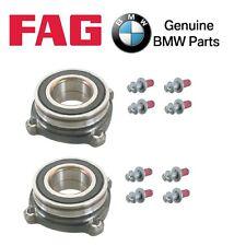 For BMW E53 E63 E65 E66 Rear Left+Right Wheel Bearings & Set of 8 Bolts Kit OEM