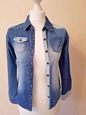 NEXT Girls Denim Long Sleeved Shirt - Age 11 Excellent Condition