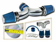BCP BLUE 00-02 Dodge Durango/Dakota 3.7L V6/4.7L V8 Dual Twin Air Intake +Filter