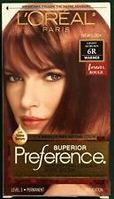 L'Oreal Paris Superior Preference Permanent Hair Color 6R Light Auburn Warmer