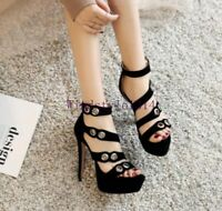 Women's Very High Stiletto Heels Night Clubwear Fashion Sandals Shoes Plus Size