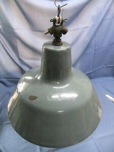 Alte Emaille Industrielampe Fabriklampe Vintage  Nr. 60