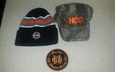 Harley Davidson HOG BEANIE BALL CAP PATCH 3 PIECES NEW NICE NWT