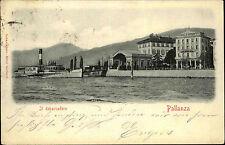 Pallanza Verbania Italien 1902 Ill debarcadero Anlegestelle Hafen n/ Schönebeck