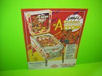 Gottlieb GOLDEN ARROW Original 1977 Pinball Machine Promo Flyer Flipper Game