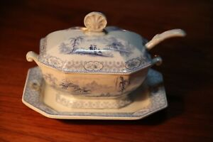 Antique Staffordshire Tyrol and Alcock Tureen