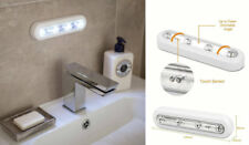 2 x  4 LED Touch Battery Operated Cupboard Lights Stick On Under Cabinet Light