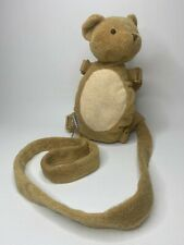 Toddler Child Safety Harness Leash Plush Reins Teddy Bear Back Pack Gold Bug
