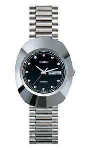 New Rado The Original DiaStar Stainless Steel Black Dial Men's Watch R12391153