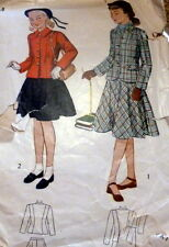 *LOVELY VTG 1940s GIRLS SUIT Sewing Pattern 8