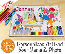 Personalised A3 Drawing Quality Painting Art Sketch Pad Book - Kids Creativity