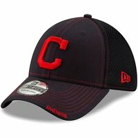 Cleveland Indians New Era Neo 39THIRTY Fitted Hat - Navy