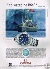Publicité advertising 2001 La Montre Omega Seamaster 300 m Sir Peter Blake