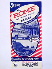 1954 Rome Naples Bus Tour Travel Brochure Italy