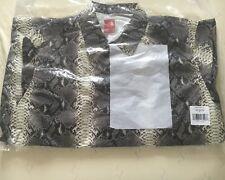 Supreme x The North Face peau de serpent Couture collée Coaches Veste Noir XL