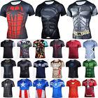 Man Compression T Shirt Marvel Superhero Base Layer Tight Sport Top Fitness AU