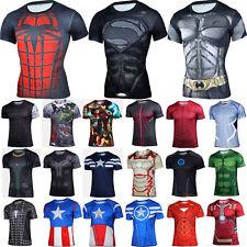 Marvel Herren Sport T-Shirt Superhelden Kurzarm Fahrrad Casual Jersey Kostüm