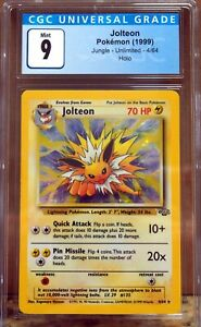 Jolteon 4/64 Jungle Set Holo Pokemon Card CGC 9 Mint ZA