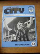 05/09/1973 Manchester City v Coventry City  (Light Crease, Token Removed)