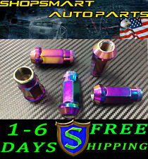 12X1.5 NEO CHROME STEEL TUNER LUG NUT SET 20 HONDA ACURA TOYOTA CIVIC LUGNUTS