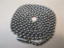"""DOG TAG CHAINS 100ea. 30""""  T-304 STAINLESS STEEL #3 = 3/32"""" or 2.4MM GENUINE USA"""