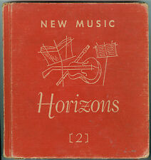 NEW MUSIC HORIZONS Second Book Songs 1953 Children's Illustrated Jules Gotlieb
