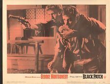 1957 Movie Vestíbulo Tarjeta #1-0028 - Negro Parche - George Montgomery