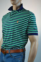 Ralph Lauren Classic Fit Green & Black Stripe Short Sleeve Mesh Polo Shirt-NWT
